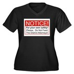 Notice / D.A. Women's Plus Size V-Neck Dark T-Shir