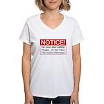 Notice / D.A. Women's V-Neck T-Shirt