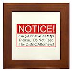 Notice / D.A. Framed Tile