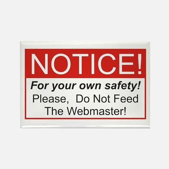 Notice / Webmaster Rectangle Magnet