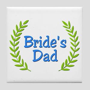 Bride's Dad (ferns) Tile Coaster