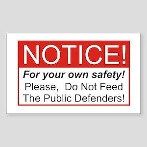 Notice / Defender Rectangle Sticker