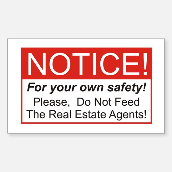 Notice / Real Estate Rectangle Decal