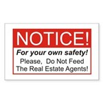 Notice / Real Estate Rectangle Sticker 50 pk)