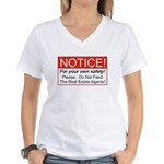 Notice / Real Estate Women's V-Neck T-Shirt
