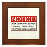Notice / Real Estate Framed Tile