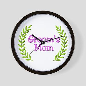 Groom's Mom (ferns) Wall Clock