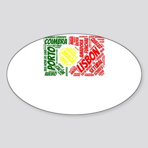 Portugal Flag with City Names Word Art Sticker
