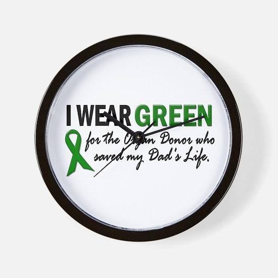 I Wear Green 2 (Dad's Life) Wall Clock