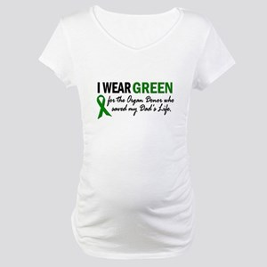 I Wear Green 2 (Dad's Life) Maternity T-Shirt