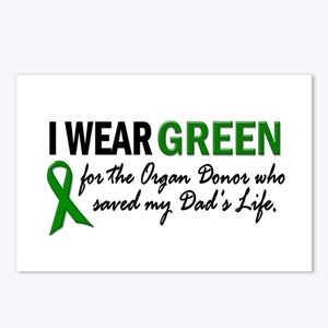 I Wear Green 2 (Dad's Life) Postcards (Package of