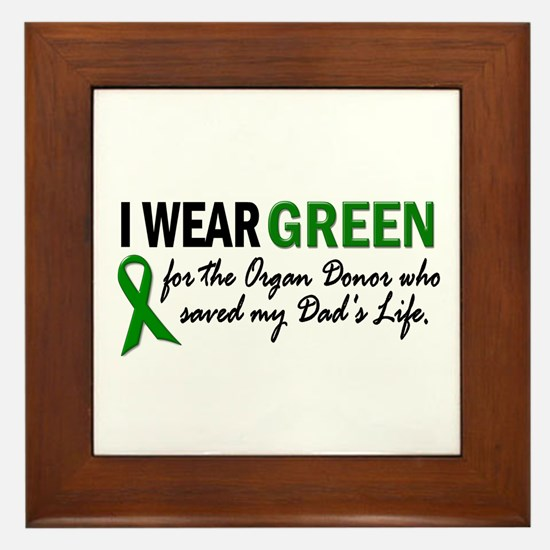 I Wear Green 2 (Dad's Life) Framed Tile