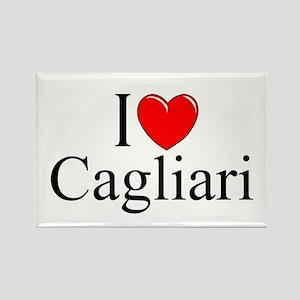 """I Love (Heart) Cagliari"" Rectangle Magnet"