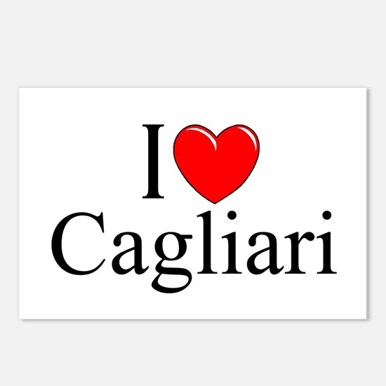 """I Love (Heart) Cagliari"" Postcards (Package of 8)"