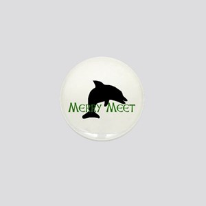 Merry Meet Spirit Dolphin Mini Button