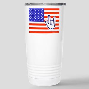 ILY Flag Stainless Steel Travel Mug