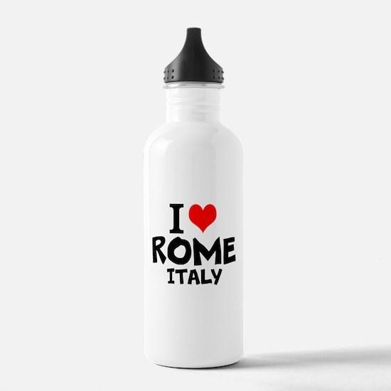 I Love Rome, Italy Water Bottle