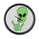 ILY Alien Large Wall Clock