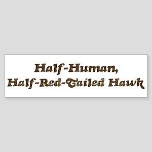 Half-Red-Tailed Hawk Bumper Sticker