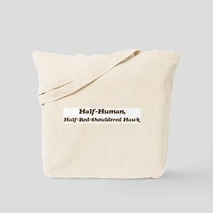Half-Red-Shouldered Hawk Tote Bag
