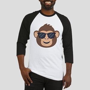 Emojione Monkey Sunglasses Baseball Tee