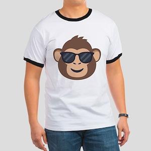 Emojione Monkey Sunglasses Ringer T