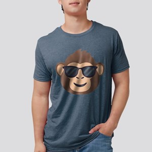Emojione Monkey Sunglasses Mens Tri-blend T-Shirt