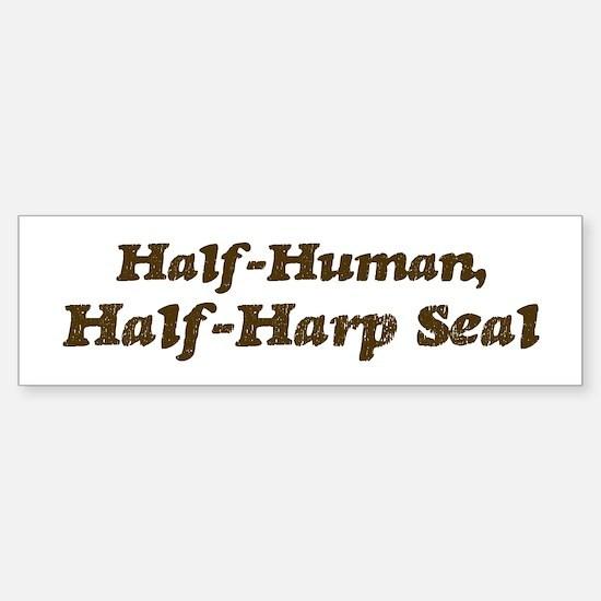Half-Harp Seal Bumper Bumper Bumper Sticker
