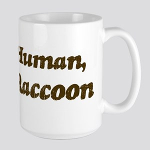 Half-Raccoon Large Mug