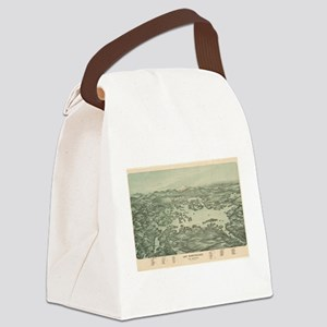 Vintage Pictorial Map of Lake Win Canvas Lunch Bag