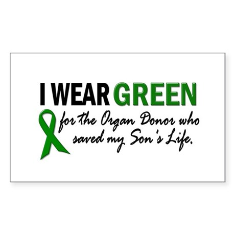 I Wear Green 2 (Son's Life) Rectangle Sticker