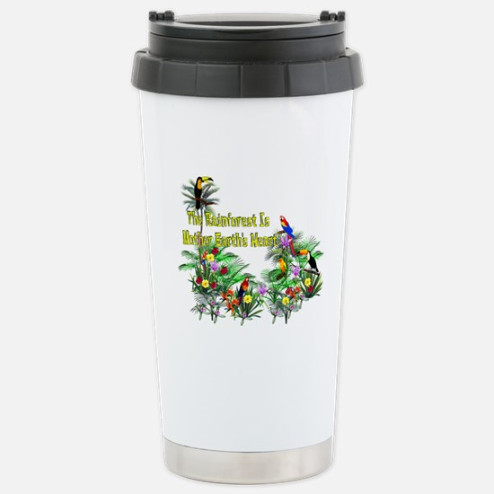 Save The Rainforest Stainless Steel Travel Mug