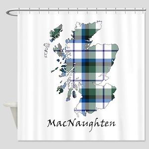 Map MacNaughten Dress Shower Curtain