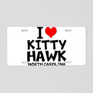 I Love Kitty Hawk, North Carolina Aluminum License