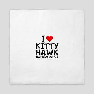 I Love Kitty Hawk, North Carolina Queen Duvet