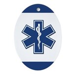 EMT Rescue Oval Ornament