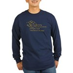 Looking At Stars In Bed Long Sleeve Dark T-Shirt
