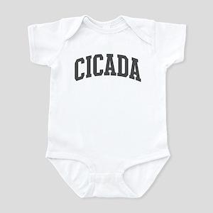 Cicada (curve-grey) Infant Bodysuit