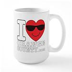 I LOVE ORANGE COUNTY Mugs