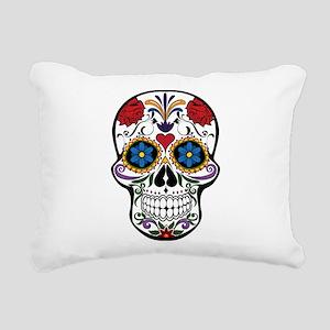 Sugar Skull II Rectangular Canvas Pillow