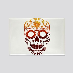 Red and Orange Sugar Skull Magnets