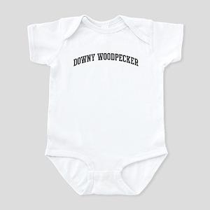 Downy Woodpecker (curve-grey) Infant Bodysuit