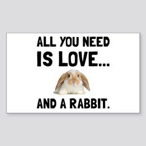 Love And A Rabbit Sticker