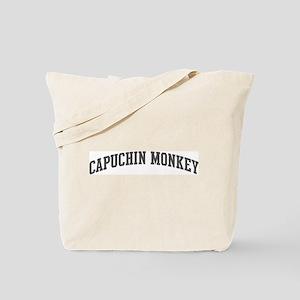 Capuchin Monkey (curve-grey) Tote Bag