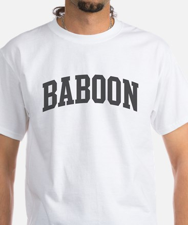 Baboon (curve-grey) White T-Shirt