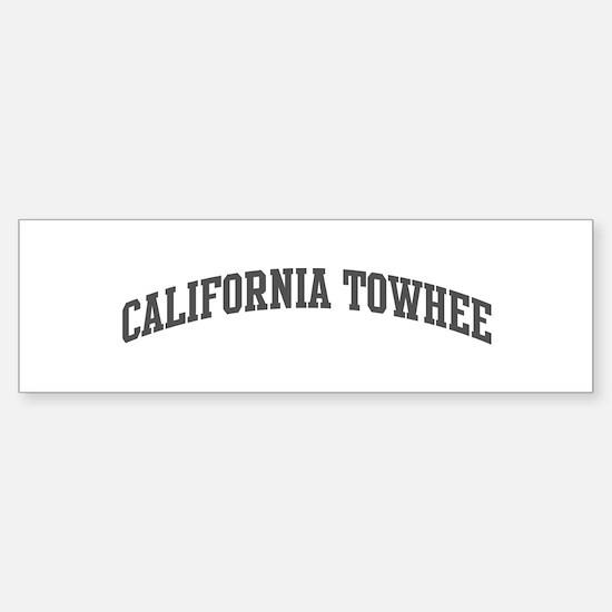 California Towhee (curve-grey Bumper Bumper Bumper Sticker