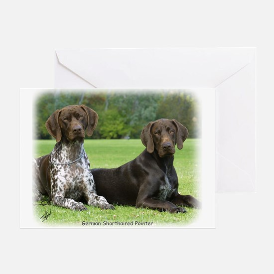 German Shorthaired Pointer 9J37D-09 Greeting Card