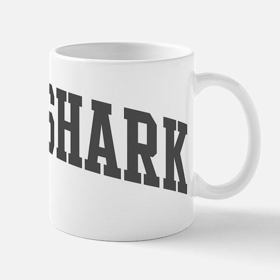 Bull Shark (curve-grey) Mug