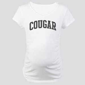 Cougar (curve-grey) Maternity T-Shirt