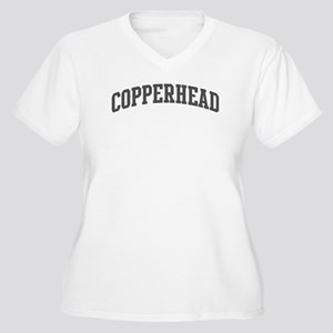 Copperhead (curve-grey) Women's Plus Size V-Neck T
